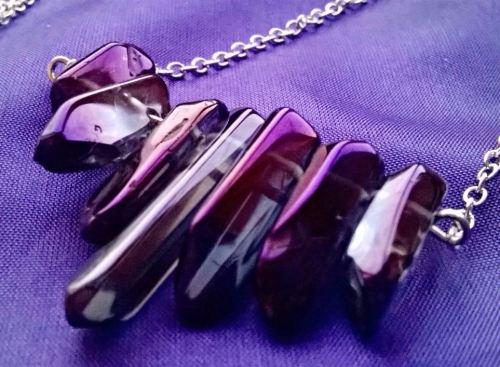 Gorgeous Purple Titanium Druzy Quartz Pendant on a 30
