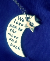 I Love You To The Moon And Back Crescent Necklace - We Love You To The Moon And Back