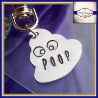 Personalised Poop Emoji Keyring - Poop Emoji Gift - Personalised Emoji Gift - Own Design - Coat Tag - Zipper Tags - Back To School Tags