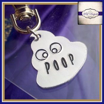 Personalised Poop Emoji Keyring - Poop Emoji Gift - Personalised Emoji Gift - Own Design - Coat Tag - Zipper Tags - Back To School Tags