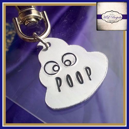 Personalised Poop Emoji Keyring - Poop Emoji Gift - Personalised Emoji Gift