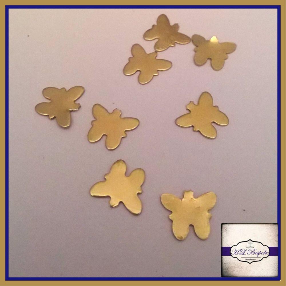 Solderable Accent UK - 5 x Raw Brass Butterflies