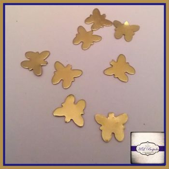 Raw Brass Butterfly Solderable Accents x5 - Brass Stampings