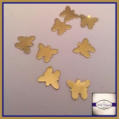 Solderable Accent UK - 5 x Raw Brass Butterflies