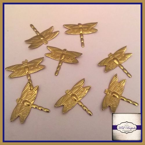 Solderable Accent UK - 5 x Raw Brass Dragonflies