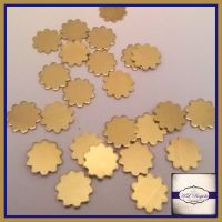 Raw Brass Flower Solderable Accents x5 - Brass Stampings