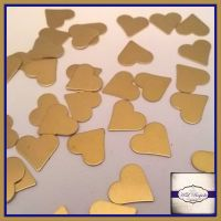 Raw Brass Heart Solderable Accents x5 - Brass Stampings