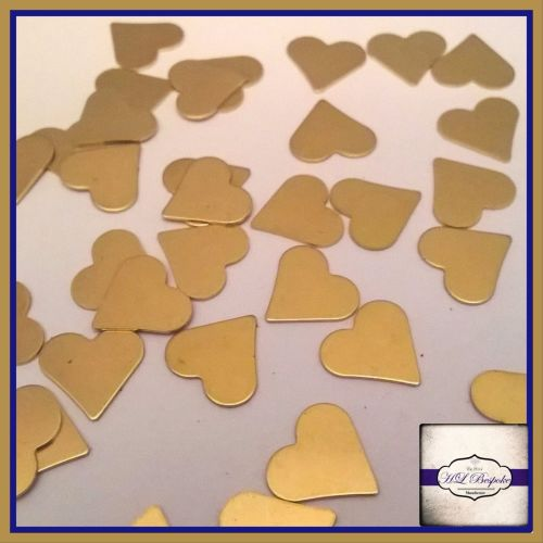 Solderable Accent UK - 5 x Raw Brass Hearts 9mm
