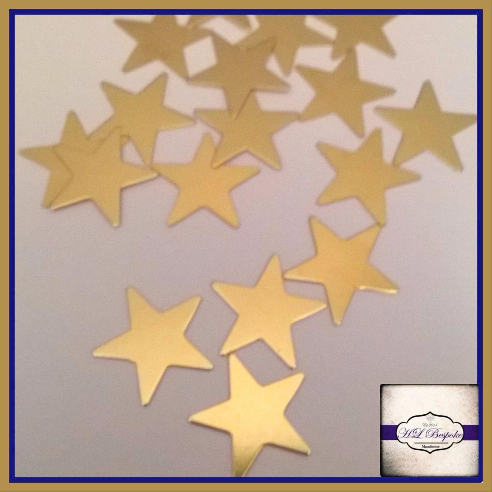 Solderable Accent UK - 5 x Raw Brass Stars 15mm