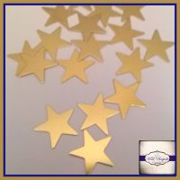 Raw Brass Star Solderable Accents 15mm x5 - Brass Stampings