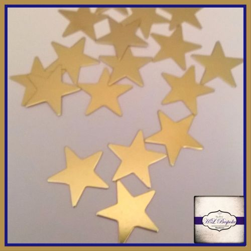 Solderable Accent UK - 5 x Raw Brass Stars 15mm