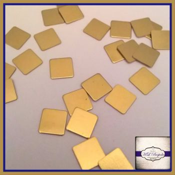Raw Brass Squares Solderable Accents 7mm x5 - Brass Stampings