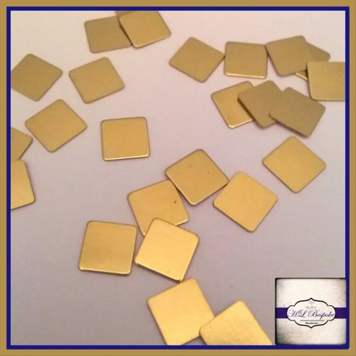 Solderable Accent UK - 5 x Raw Brass Squares 7mm