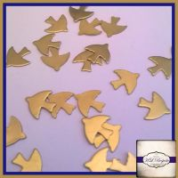 Raw Brass Dove Solderable Accents x5 - Brass Stampings