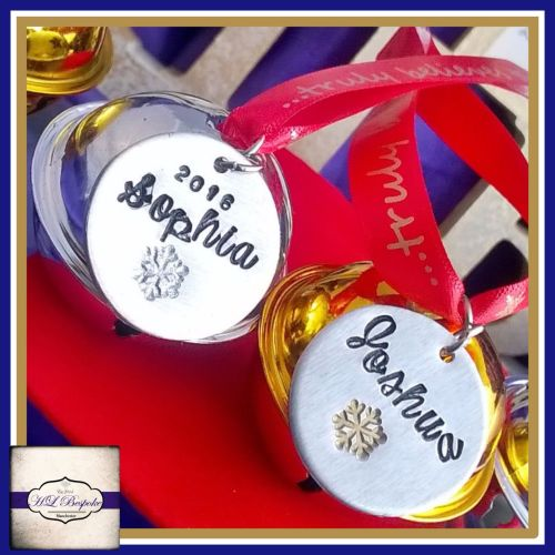 Personalised Believe Bells - For Those Who Truly Believe - Christmas Tree D