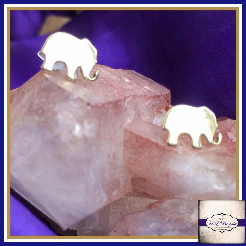 Sterling Silver Elephant Earrings - Cute Little Elephant Studs Gift Boxed