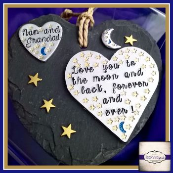 We Love You To The Moon And Back Personalised Slate - Or Own Wording