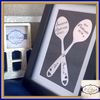 Spooning Together Since Frame - Cute Valentines Day Gift - Couples Frame - Valentine's Frame - Funny Valentine's Gift