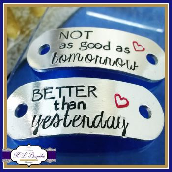 Custom Trainer Tags - Better Than Yesterday Trainer Tags - Not As Good As Tomorrow Shoe Charms - Runner Charm - Jogger Gifts - Motivation