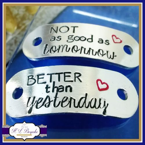 Personalised Trainer Tags - Better Than Yesterday Not As Good As Tomorrow Q