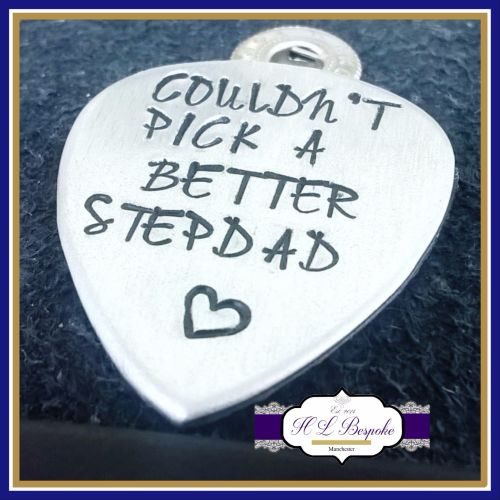 Stepdad Gift - Stepdad Guitar Pick - I Couldn't Pick A Better Stepdad - Ste