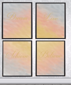 Rose Gold Print - 2017 Trend - Rose Gold Gold and Silver Prints - Believe Print - Dream Print - Achieve Print - A4 Print Sets - Unframed