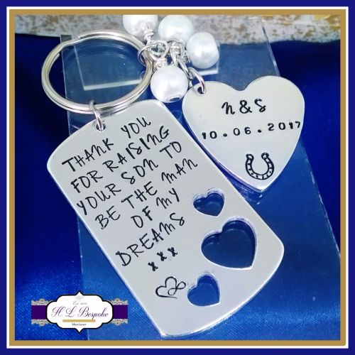 Personalised Mother of the Groom Gift - MOG Keyring - Man Of My Dreams Key