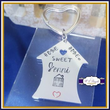New Home Keyring - Home Sweet Home Keychain - First Home Keyring - Couples' First Home - Personalised New Home Gift - First Home Gift - Home