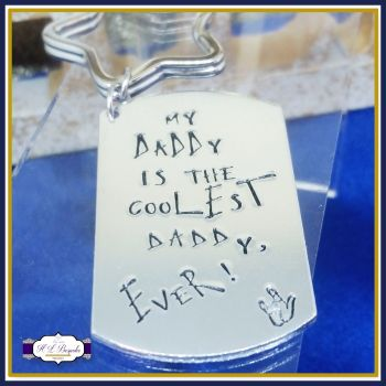 Coolest Daddy Keyring - Father's Day Keyring - My Daddy Is The Coolest Daddy EVER! - Cool Dad Keyring - Awesome Uncle - Cool Grandad