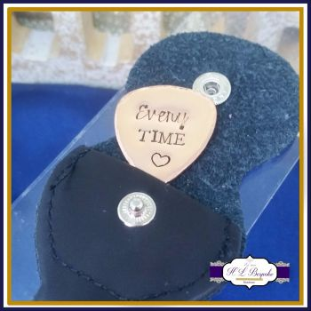 Copper Guitar Pick - I Pick You Every Time - Personalised Guitar Pick - Valentine's Gift - 7th Anniversary Gift - Custom Copper Anniversary