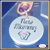 New Mummy Keyring - Mother's Day Keyring - New Baby Keyring - New Mum Keyring - Cute Mommy Keyring - Mommy Heart Keyring