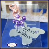 Fibromyalgia Bag Charm - Chronic Illness Keyring - Fibro Bag Charm - Fibromyalgia Keyring - Chronic Pain Gift Keyring - Purple Butterfly Fibromyalgia