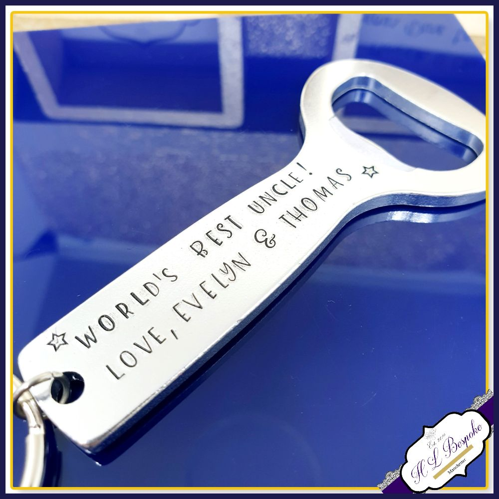 Personalised Bottle Openers & Cocktail Stirrers