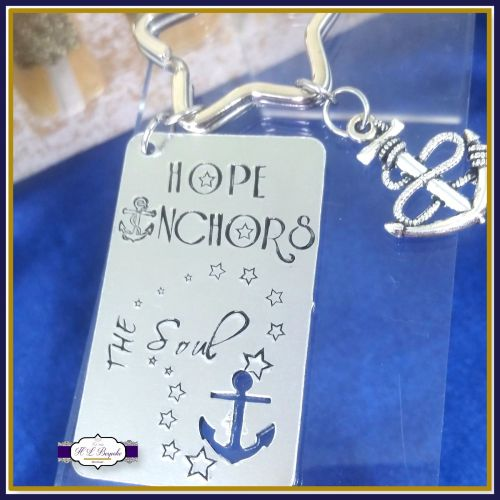 Hope Anchors The Soul Keyring - Anchor Keyring - Inspirational Keychain - A