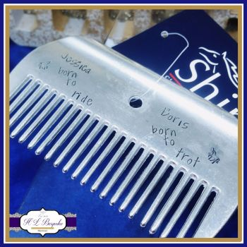 Personalised Shires Horse Comb - Large Horse Comb - Rider Gifts - Horse Ride Comb - Horse Rider Gift - Horse Lover Gift - Born To Ride Gift