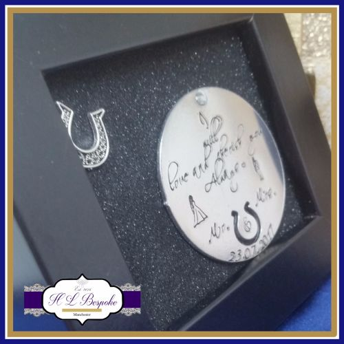 Small Framed Wedding Gift - Personalised Wedding Gift - I will love and che