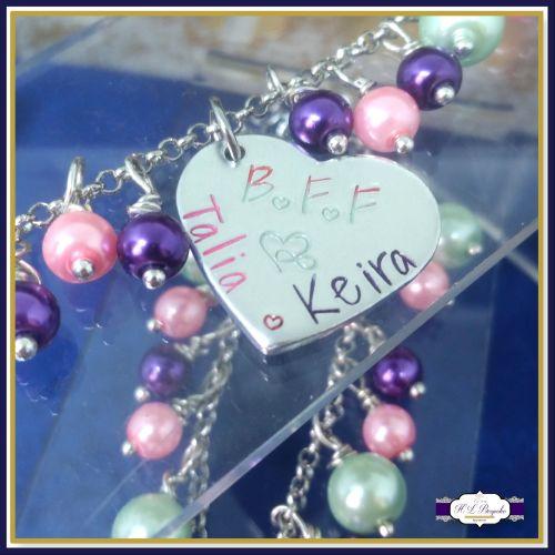 Personalised Best Friend Bracelets - Custom BFF Bracelets - Personalised Ch
