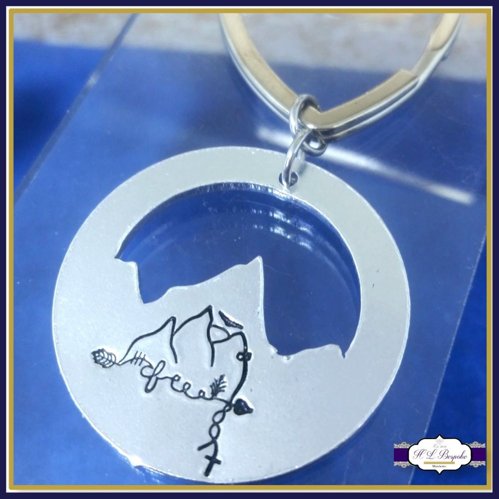 Special Personalised Mountain Keyring - Multimeaning Gift - Freedom Mountai