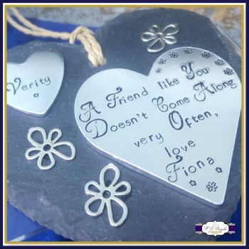 A Friend Like You Desn't Come Along Very Often Slate Plaque - Gifts For Friends - Great Friends Gift Your Own Wording - Personalised Slate