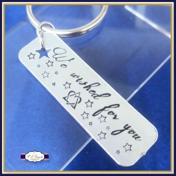 Adoption Keyring - We Wished For You Keyring - New Addition To The Family Keyring - Adoption Gift - Adoptee - Bonus Child Keyring - Gotcha