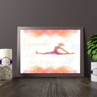 Watercolour Gymnastics Bedroom Decor Print - Gymnastics Quote Wall Art - Gift for Gymnast Bedroom - Gymnastics Bedroom Decor - Gymnast Gift
