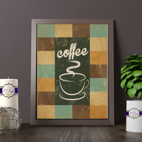 Patchwork Coffee Wall Art - Kitchen Decor Print - Coffee Lover Gift