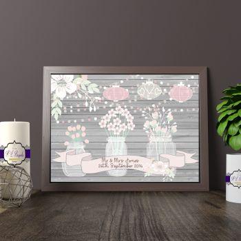 Personalised Wedding Gift Print - Wedding Table Seating Decor