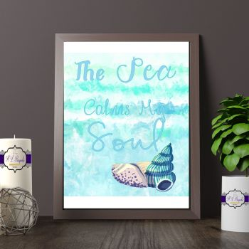Sea Decor For Holiday Home - The Sea Calms My Soul - Bathroom Decor - Sea Themed Caravan Decor - Decor For Beach Hut - Holiday Home Decor