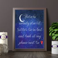 There Is nobody Else Quote Print - Couples Themed Wall Art - Modern Life Gift - Adult Humour Gift