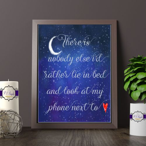 There Is nobody Else Quote Print - Couples Themed Wall Art - Modern Life Gi