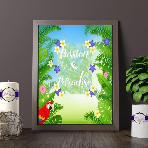 Tropical Theme Wall Decor - Passion & Paradise Tropical Themed Print