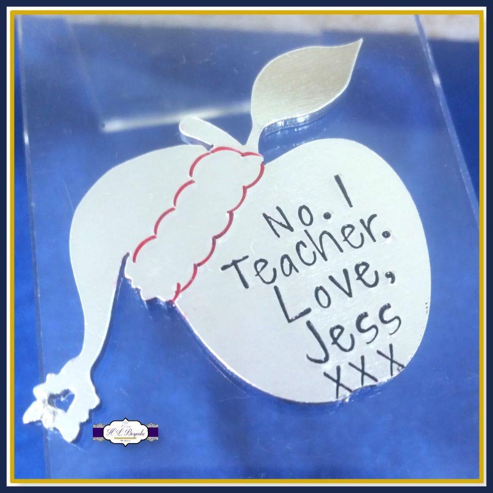 Personalised Christmas Teacher Apple Magnet Gift - Christmas Gift For Teach