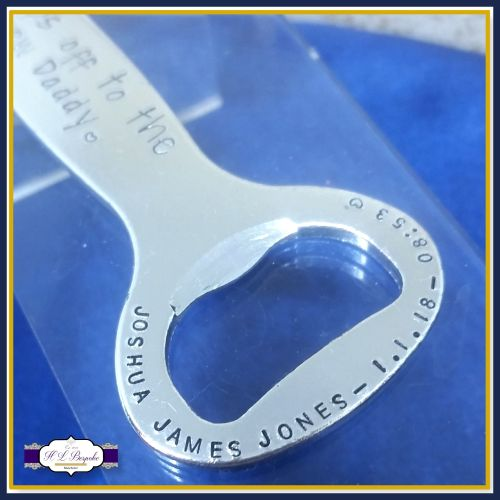 New Daddy Gift - Caps Off To New Daddy - Dad Bottle Opener - With Babies De