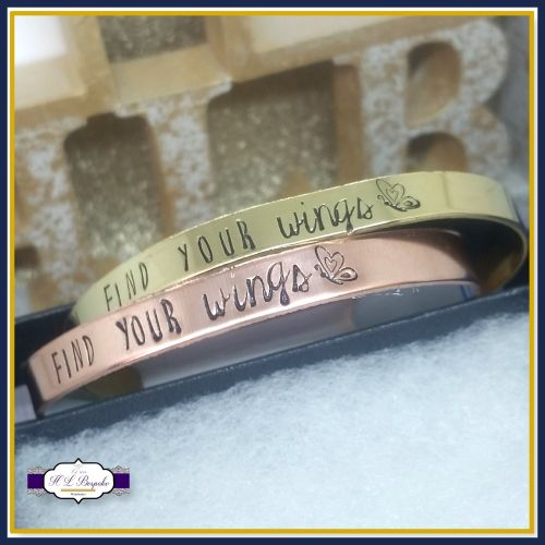 Find Your Wings Jewellery - Find You Wings Gift - Find Your Wings Bangle -